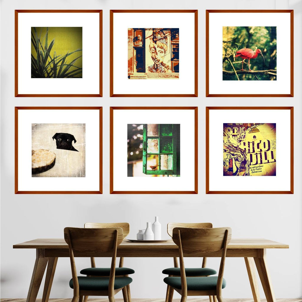 Gallery Wall Grid of 6 Boho Chic Art Prints from Gallery Wallrus | Eclectic Wall Art & Decor with Worldwide Shipping
