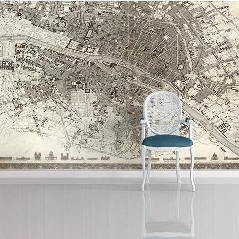 Birds Eye View Overlooking Paris City Wall Mural from Gallery Wallrus | Eclectic Wall Art & Decor with Worldwide Shipping