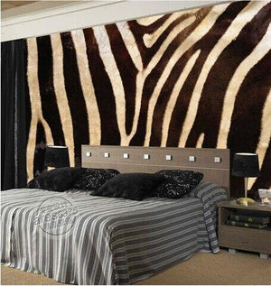 custom wall mural 3D stereo Retro Modern fur fashion latest TV backdrop Zebra Animal Fur non-woven wallpaper mural from Gallery Wallrus | Eclectic Wall Art & Decor with Worldwide Shipping