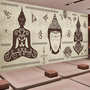 Buddha Meditation Room Wall Murals (Various Design Options) from Gallery Wallrus | Eclectic Wall Art & Decor with Worldwide Shipping