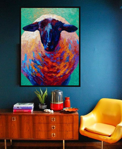 Hand Painted Abstract Art Piece: Big Sheep from Gallery Wallrus | Eclectic Wall Art & Decor with Worldwide Shipping