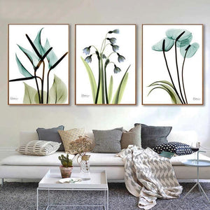 Gallery Wall Trio of 3 Blue Floral Art Prints from Gallery Wallrus | Eclectic Wall Art & Decor with Worldwide Shipping