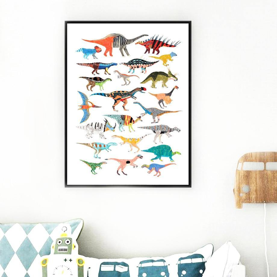 Dinosaur T-Rex Triceratops Dinosaur Kids Room Wall Picture from Gallery Wallrus | Eclectic Wall Art & Decor with Worldwide Shipping