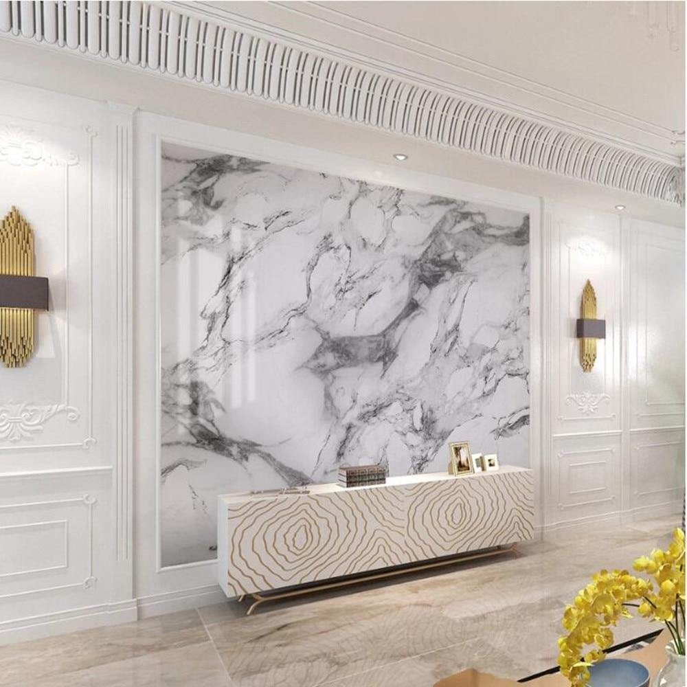 Luxury White Marble Wall Mural from Gallery Wallrus | Eclectic Wall Art & Decor with Worldwide Shipping