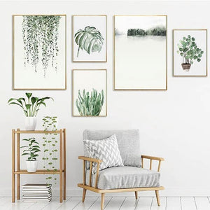 Plant Paintings Mixed Size Gallery Wall from Gallery Wallrus | Eclectic Wall Art & Decor with Worldwide Shipping