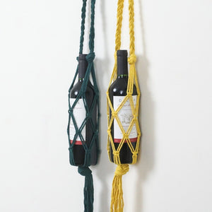 Boho Macrame Wine Bottle Holder Collection from Gallery Wallrus | Eclectic Wall Art & Decor with Worldwide Shipping