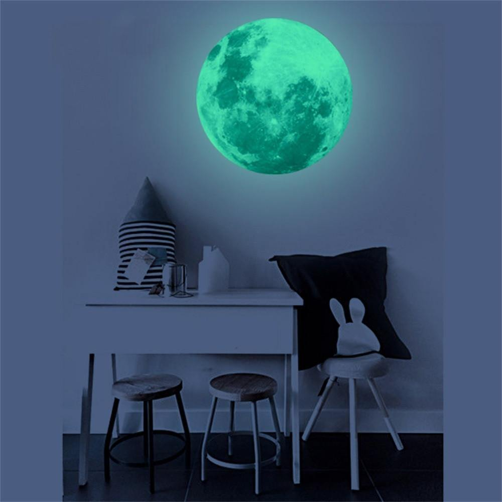 Luminous Moon Wall Sticker from Gallery Wallrus | Eclectic Wall Art & Decor with Worldwide Shipping