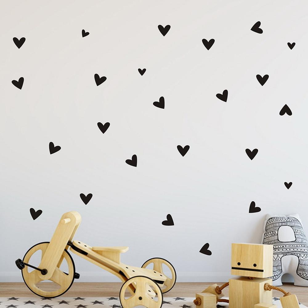 Mini Heart Wall Stickers (various colors available) from Gallery Wallrus | Eclectic Wall Art & Decor with Worldwide Shipping