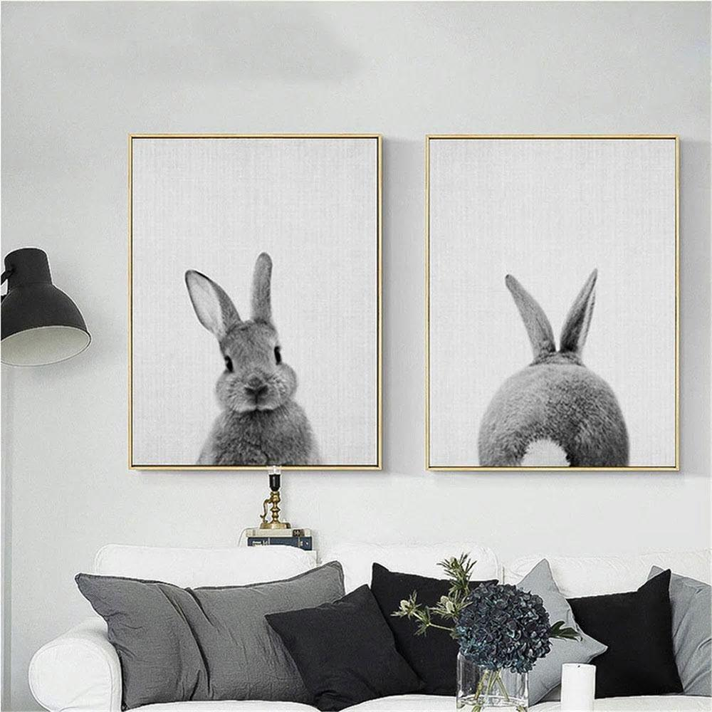 Twin Bunny Rabbit Art Prints from Gallery Wallrus | Eclectic Wall Art & Decor with Worldwide Shipping