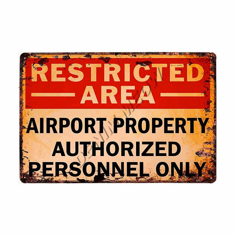 UFO Area 51 Warning Metal Wall Signs from Gallery Wallrus | Eclectic Wall Art & Decor with Worldwide Shipping