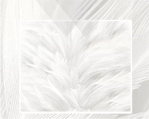 Heaven White Feather Art Wall Mural from Gallery Wallrus | Eclectic Wall Art & Decor with Worldwide Shipping