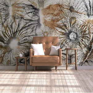 Abstract Root Tree Branches Oil Paint Wall Mural from Gallery Wallrus | Eclectic Wall Art & Decor with Worldwide Shipping