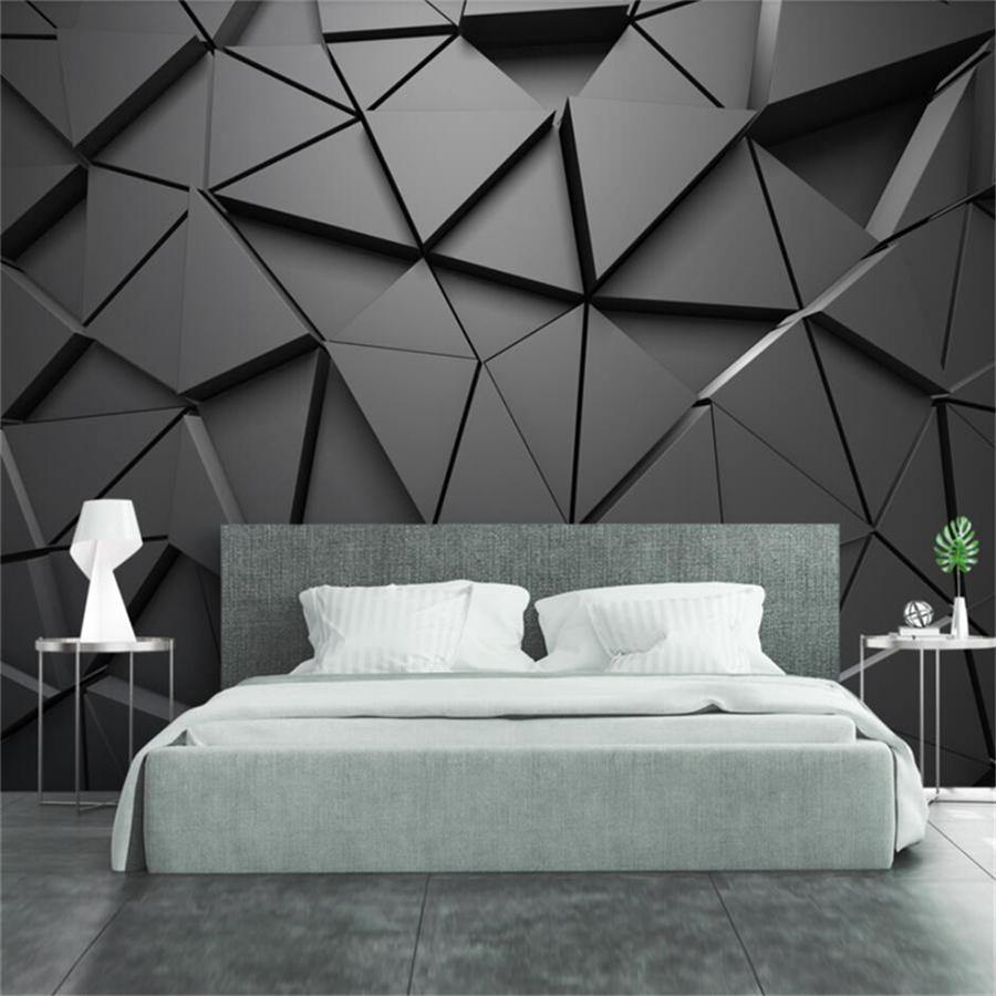 3D Stereo Geometric Triangles Wall Mural from Gallery Wallrus | Eclectic Wall Art & Decor with Worldwide Shipping