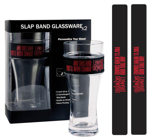 Freebird Slap Band Glass Set-Lynyrd Skynyrd