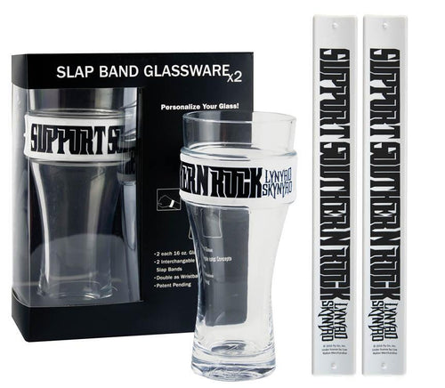 Support Southern Rock Slap Band Glass Set-Lynyrd Skynyrd