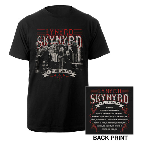 2017 Band Photo Itinerary Tee-Lynyrd Skynyrd