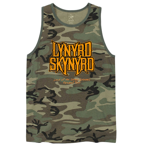 Last of the Street Survivors Camo Tank-Lynyrd Skynyrd
