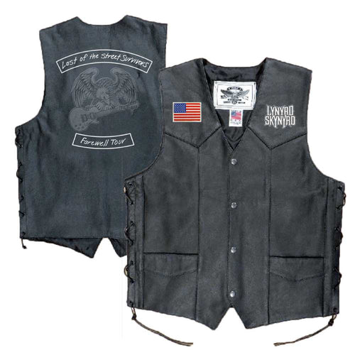 Last of the Street Survivors Leather Vest-Lynyrd Skynyrd