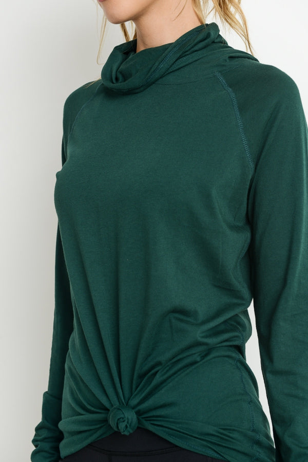 High Neck Hoodie-FINAL SALE - Lark & Lily Boutique