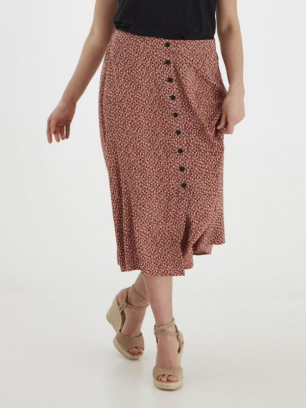 BY MMJOELLA Midi Skirt- Etruscan Red Mix - Lark & Lily Boutique