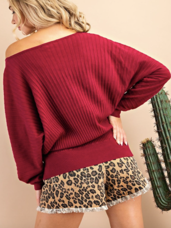 Campfire Knit Sweater- Wine