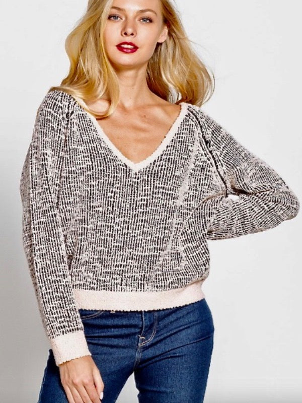 Mountains Are Calling V-Neck Sweater