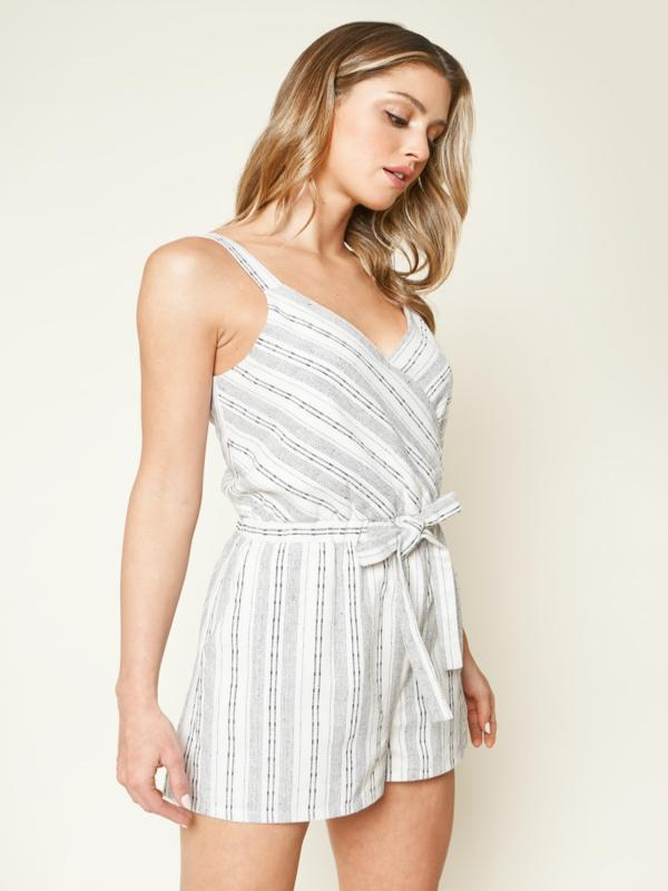 Pier Party Striped Romper