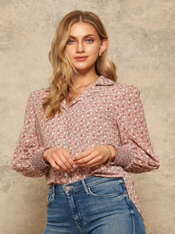 Crazy For Florals Blouse