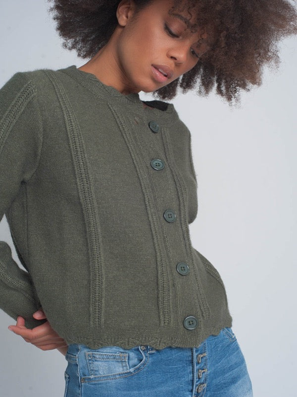 Vintage Inspired Crop Cardigan