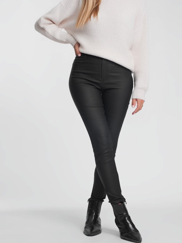 Telegraph Faux Leather Pants