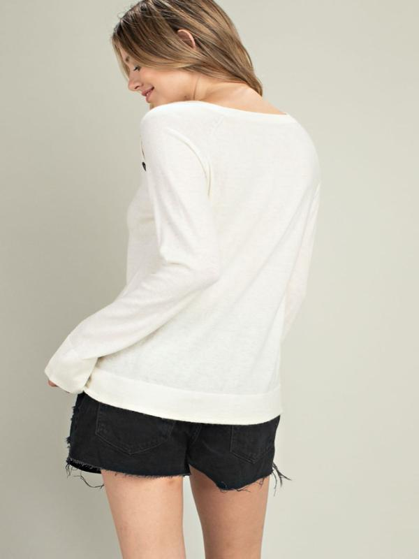 Camille Button Knit Sweater