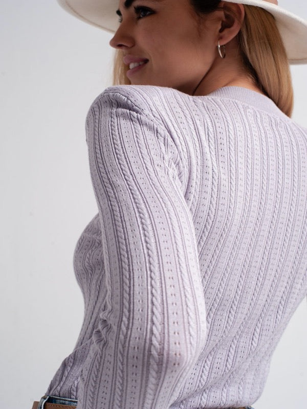 Pippa Cable Knit Sweater-FINAL SALE - Lark & Lily Boutique