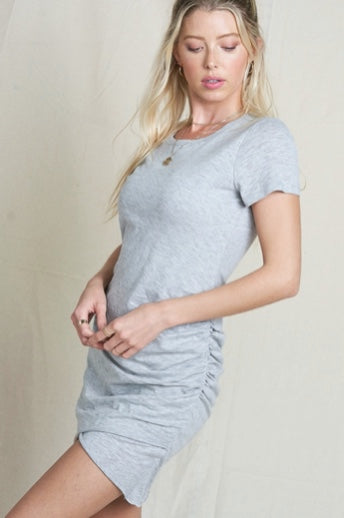 Audrey Knit Dress-Heather Grey