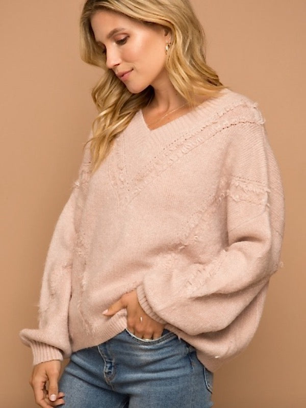 Tuscaloosa Fringe Knit Sweater