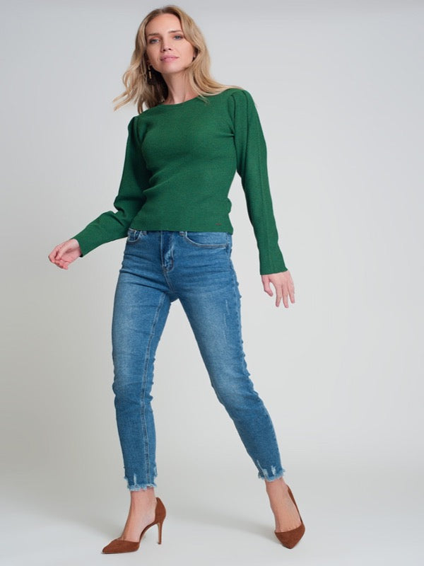 Eliza Frayed Ankle Denim - Lark & Lily Boutique