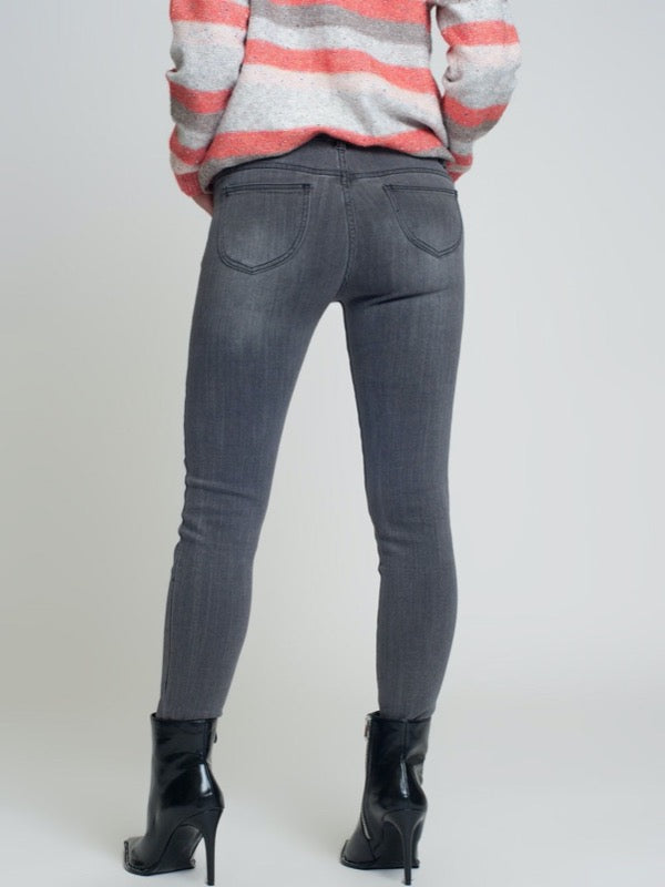 Valencia Side Slit Denim