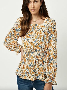 Claire Long Sleeve Floral Top
