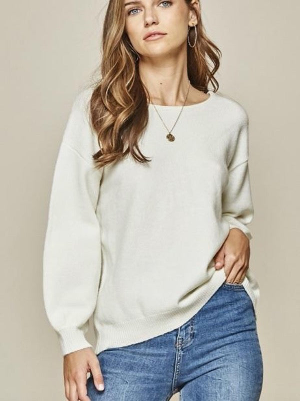 Party In The Back Knit Sweater