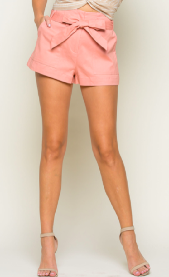 Bow and Arrow Shorts - Blush