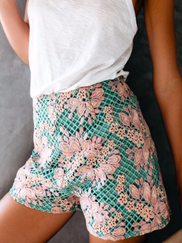 All Over Lace Shorts
