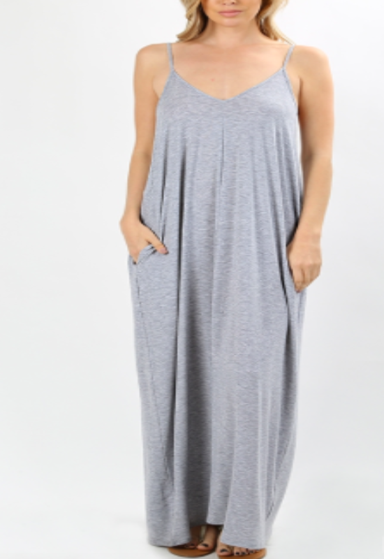 Olivian Pocketed Maxi Dress