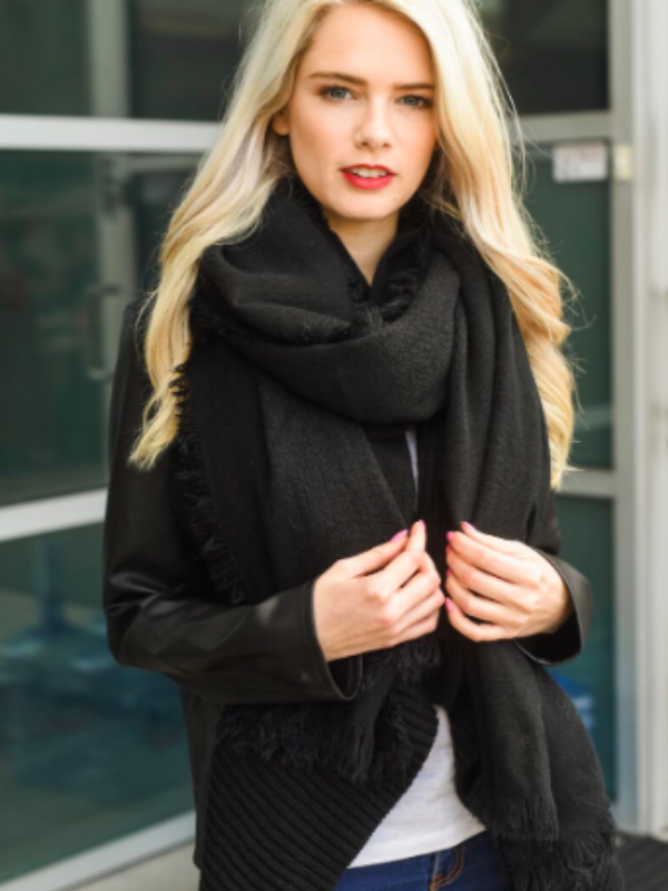 City Light Scarf-Black