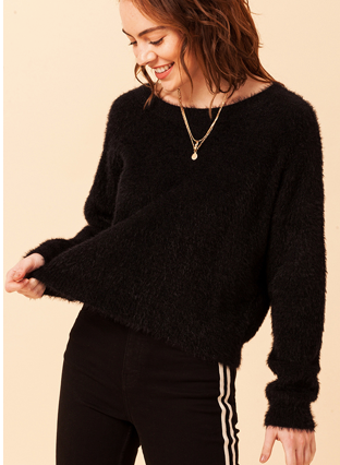 Blackout Cropped Sweater