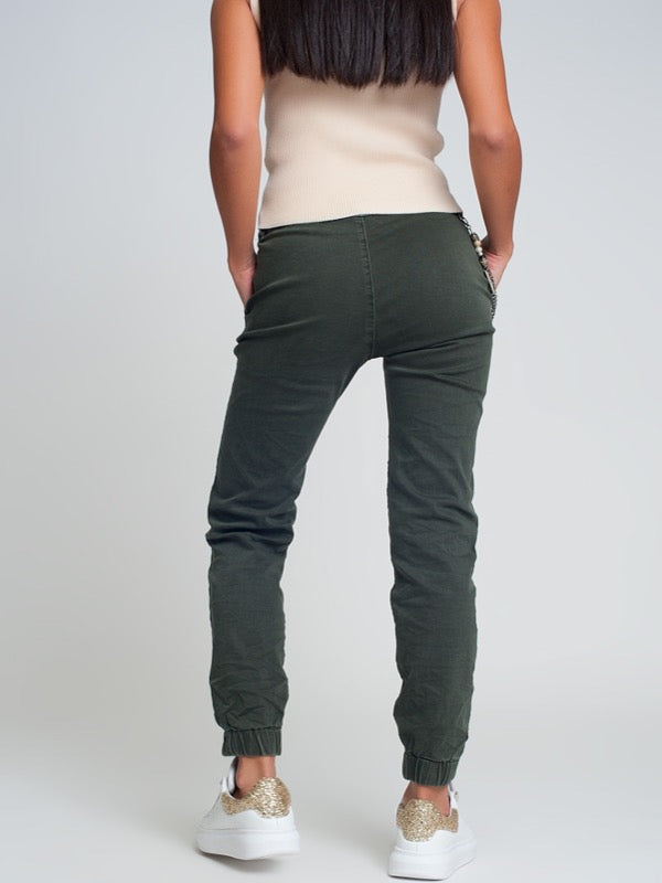 Aristotle Cotton Joggers- Green - Lark & Lily Boutique