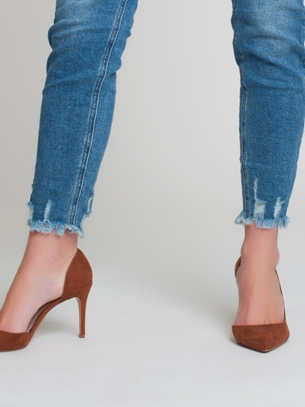 Eliza Frayed Ankle Denim