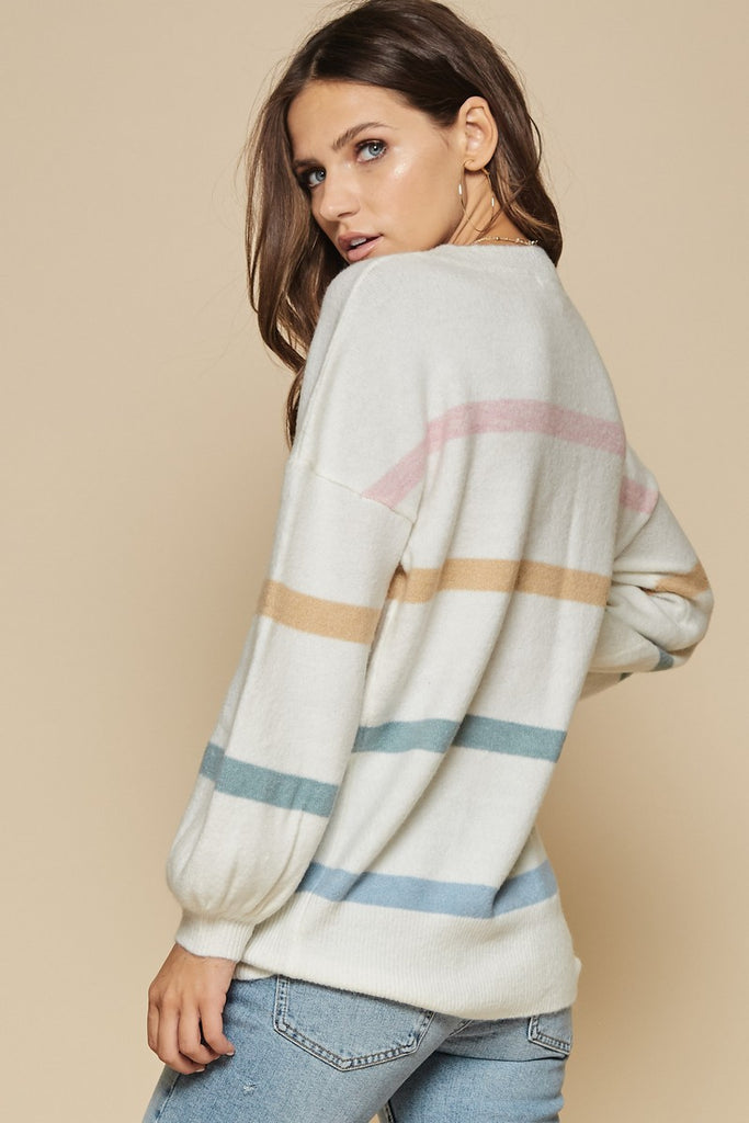 Annie Balloon Sleeve Knit Sweater