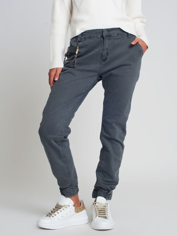 Aristotle Cotton Joggers- Grey - Lark & Lily Boutique