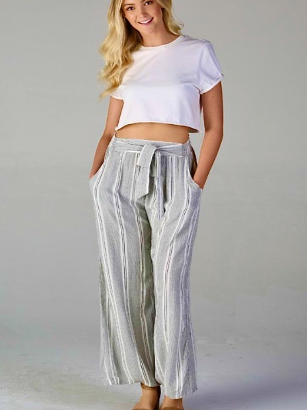 Las Palmas Striped Pants
