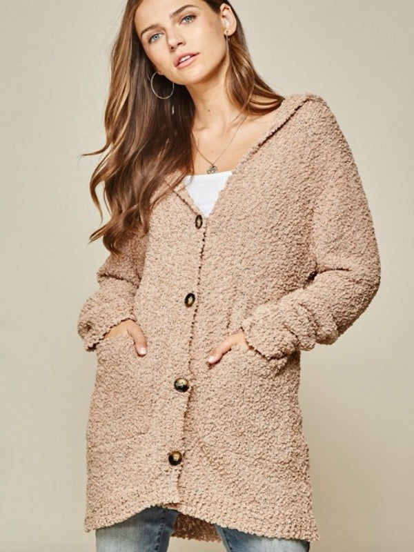Honesty Button Down Hooded Cardigan
