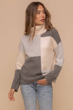 New Kid On The Color-Block Sweater